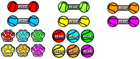 Free Reading Balls Bulletin Board Display Dog Accent Pieces