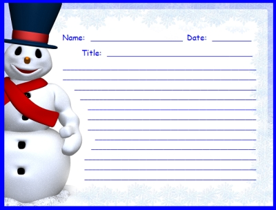 Free Frosty the Snowman Printable Worksheets for Creative Writing