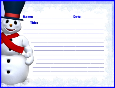 Frosty the Snowman Printable Worksheets