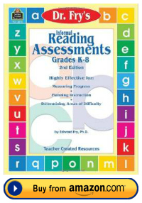 Dr. Fry Instant Sight Words Informal Reading Assessment Teacher Resource Book
