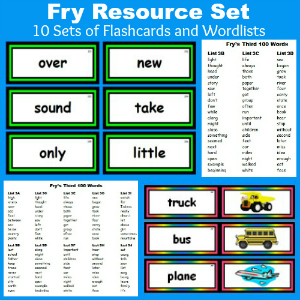 Fry Sight Words - Download 10 Free Sets of Flashcards