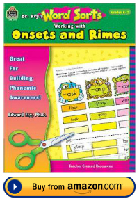 Dr. Fry teacher resource book onsets and rimes