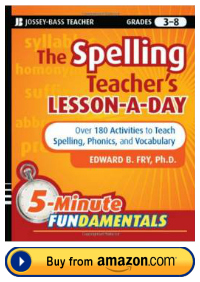 Dr. Edward Fry The Spelling Teacher's Word a Day Resource