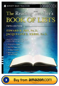 Dr. Edward Fry The Reading Teacher's Book of Lists Resource Book