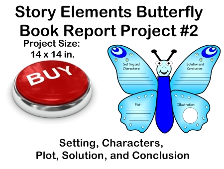 Fun Book Report Project Ideas - Butterfly Templates