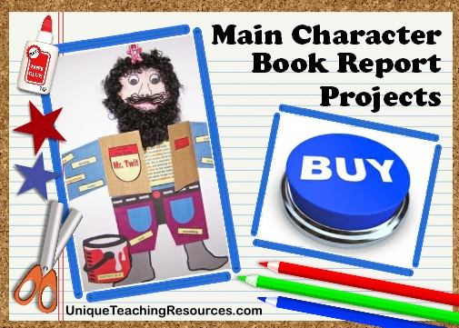 Fun Ideas For Book Report Projects For Main Characters