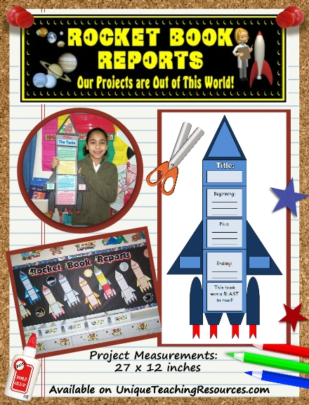 Fun Book Report Project Ideas - Rocket Templates