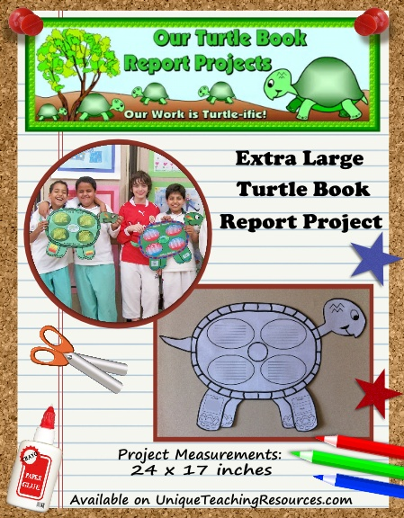 Fun Book Report Project Ideas - Turtle Templates