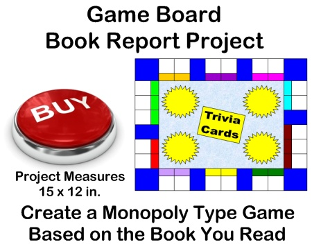 Monopoly Game Board Templates - Fun Book Report Project Ideas