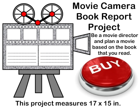 Fun Book Report Project Ideas - Movie Camera and Director Templates