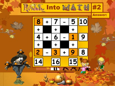 Fun Math Puzzles Powerpoint Lesson Plans for Fall and Autumn