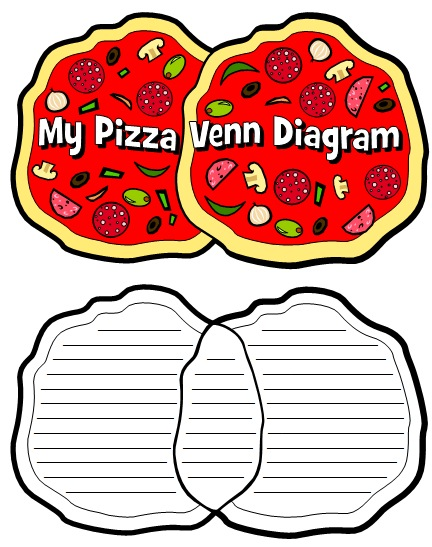 Fun Pizza Shaped Venn Diagram Templates and Book Report Project Ideas