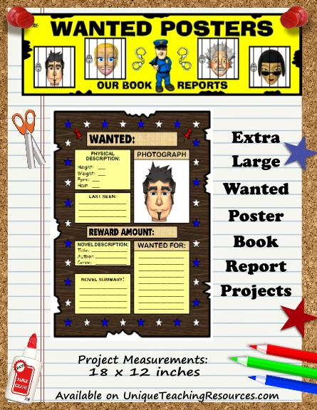 Wanted Posters - Fun Book Report Project Ideas