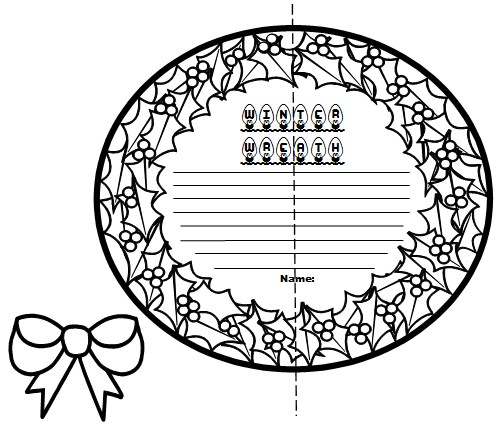 Fun Winter Lesson Plan Activities Winter Wreath Creative Writing Templates and Projects