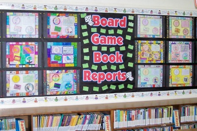 Monopoly Game Boards Fun Student Book Report Projects