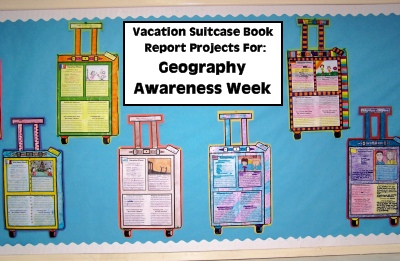 Geography Awareness Week Book Report Projects and Lesson Plans for Teachers