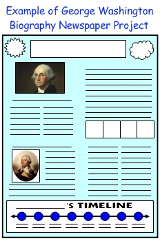 President George Washington Biography Newspaper Book Report Project For Students