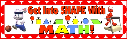 Math Geometric Shapes Bulletin Board Display Set for Elementary School:  square, circle, triangle, rectangle, hexagon, octogon