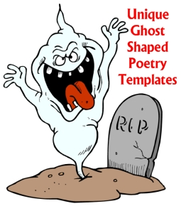 Ghost Shaped Writing Templates for Halloween Poems