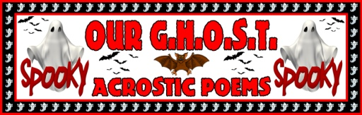 Halloween Ghost Poetry Bulletin Board Display Ideas and Examples