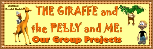 The Giraffe and the Pelly and Me Free Bulletin Board Display Banner Author Roald Dahl