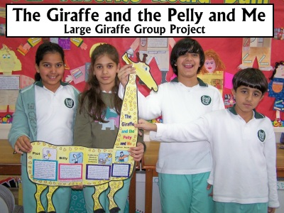 The Giraffe and the Pelly and Me Teaching Activities and Fun Group Project Templates