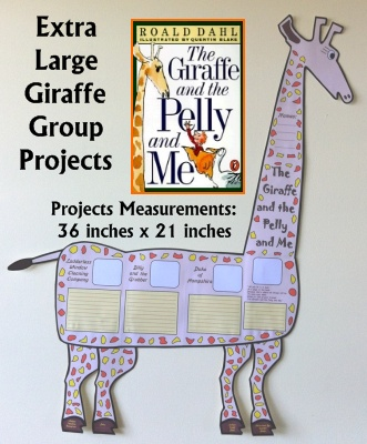The Giraffe and the Pelly and Me fun Roald Dahl group project templates and worksheets