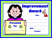 Girl Student Improvement Award