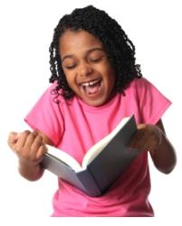 Reading Book Happy Girl Student