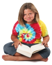 Elementary School Girl Loves Reading Books