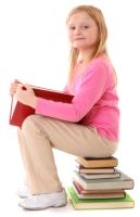 Elementary Girl Student Reading