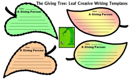Giving Tree Leaf Templates