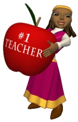 Back To School Teacher With Apple