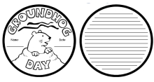 Groundhog Day Creative Writing Project and Templates