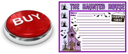 Halloween Printable Worksheets Haunted House Buy Now Button