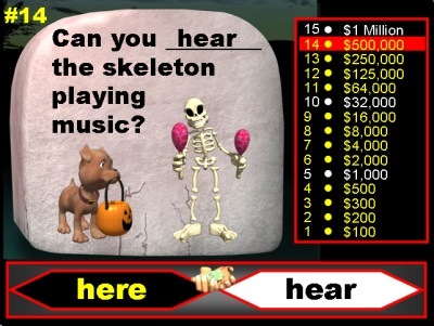 Halloween Who Wants To Be A Millionaire Powerpoint Presentation and Lesson Plans for Teachers