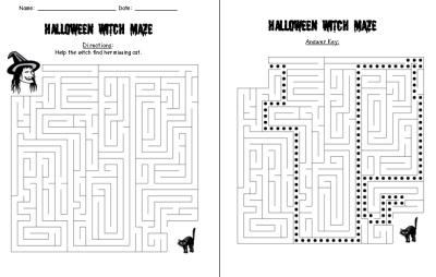 Halloween Maze Puzzle