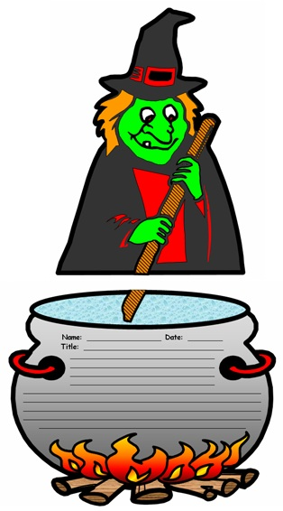 Halloween Witch Creative Writing Templates and Worksheets for Elementary School Students