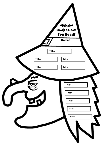 Halloween Witch Reading Sticker and Incentive Chart Templates and Worksheets