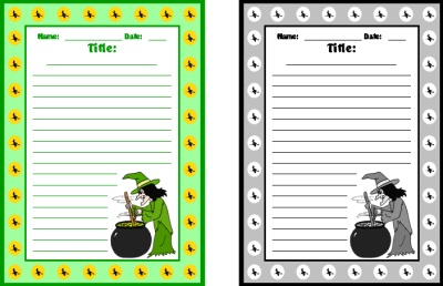 Halloween Witch Printable Worksheets For Creative Writing Activities