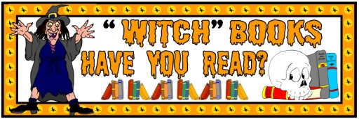 Free Halloween Witch Reading Bulletin Board Display Banner Examples for Teachers