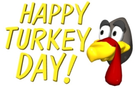 Happy Turkey Day Thanksgiving Graphic