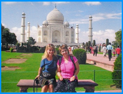 Heidi and Heather McDonald Sisters at the Taj Mahal India