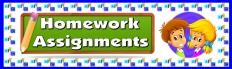 Homework Assignments Classroom Bulletin Board Display Banner