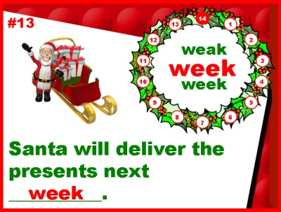 Homophones Christmas Grammar Powerpoint Lessons
