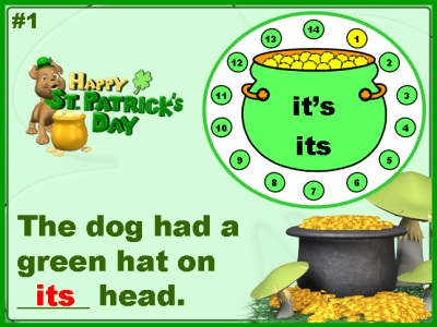 Homophones Grammar St. Patrick's Day Powerpoint Lesson Plans
