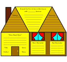 Main Character House Book Report Project and Templates