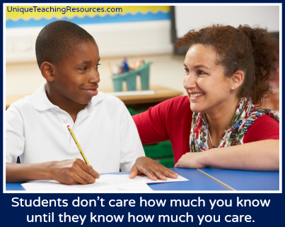 Quotes About Teachers - Students don't care how much you know until they know how much you care.
