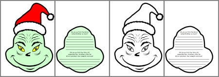 How The Grinch Stole Christmas Dr. Seuss Student Project Templates