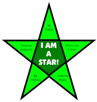 Back to School Student Information Star Templates